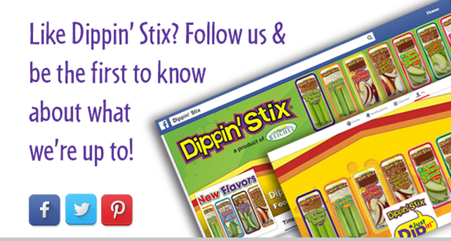 Find Dippin' Stix on facebook, pinterest and twitter